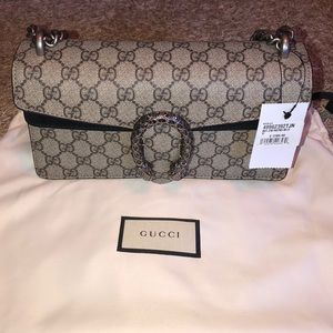 BRAND NEW w/tags Gucci GG Canvas and Suede bag
